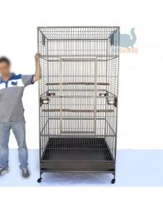 Gabbia pappagalli ara cacatua mis. 102x102x205cm.