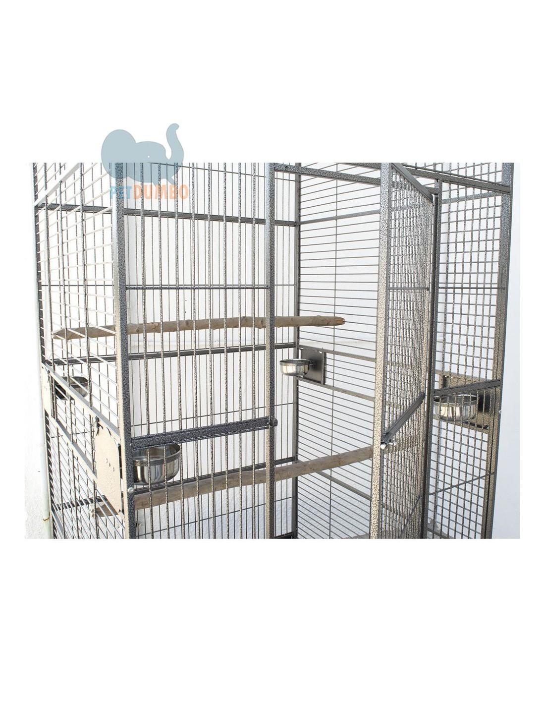 Dettagli su gabbia pappagalli xxl grande gabbia uccelli for Tartarughiera in plastica grande