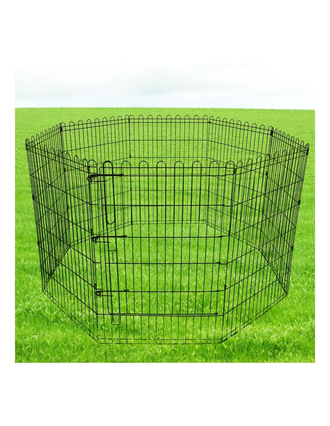 Recinto per cani gatti cuccioli recinzione animali gabbia 8 elementi - Recinto mobile per cani ...