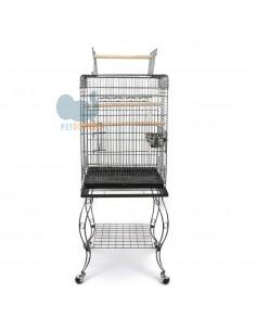 Gabbia per pappagalli con carrello 51x50x146h cm