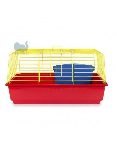 Gabbia per conigli, colorate doppia apertura
