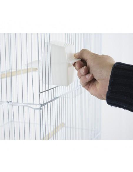 Gabbia per uccelli calopsite parrocchetti canarini cocorite con carrello