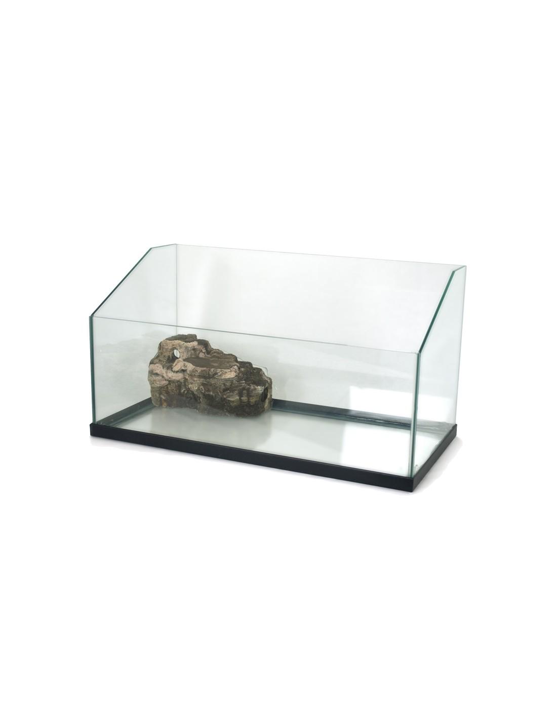 Tartarughiera in vetro con roccia for Tartarughiera grande vetro