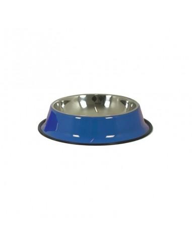 Ciotola acciaio per cani 20 cm blu